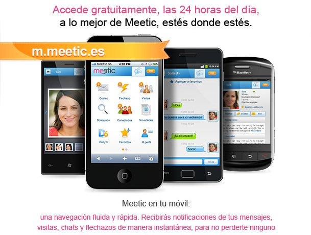 Aplicación de Meetic para móviles y smartphones